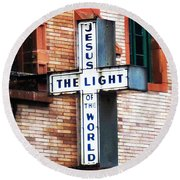 Light In The City Round Beach Towel