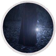 Light In The Dark Round Beach Towel by Joana Kruse