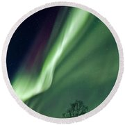 Light In The Sky Round Beach Towel by Dave Bowman