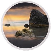 Light In The Storm Round Beach Towel