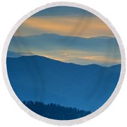 Light In The Valley Round Beach Towel