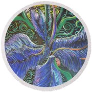 Light Into The Bloom Round Beach Towel