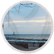 Light Is On Round Beach Towel