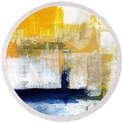Light Of Day 4 Round Beach Towel by Linda Woods