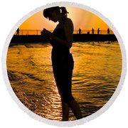 Light Of My Life Round Beach Towel by Frozen in Time Fine Art Photography
