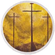 Light Of Salvation Round Beach Towel