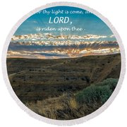 Light Of The Lord Round Beach Towel