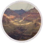 Light On The Canyons Round Beach Towel