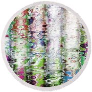 Light Reflections Round Beach Towel