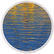 Light Reflections On The Water Round Beach Towel