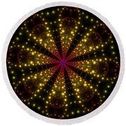 Light Show Abstract 3 Round Beach Towel