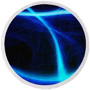 Light Show Abstract 5 Round Beach Towel