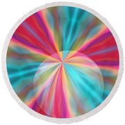 Light Spectrum 1 Round Beach Towel