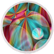 Light Spectrum 2 Round Beach Towel