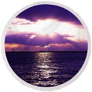 Light Therapy Round Beach Towel