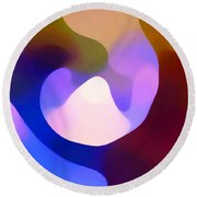Light Through Branch Round Beach Towel by Amy Vangsgard