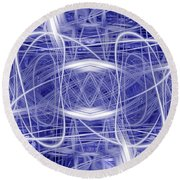 Light Trails 1 Round Beach Towel