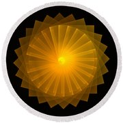 Light Wheel Round Beach Towel