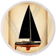 Lightening Sails Round Beach Towel