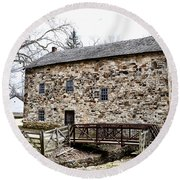 Lightfoot Mill At Anselma Chester County Round Beach Towel