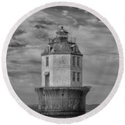Lighthouse 2 Round Beach Towel