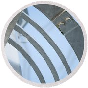 Lighthouse Abstract Round Beach Towel