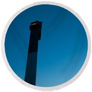 Lighthouse And Moon Round Beach Towel