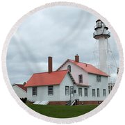 Lighthouse At Whitefish Round Beach Towel