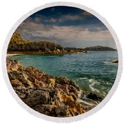 Lighthouse Bay Round Beach Towel