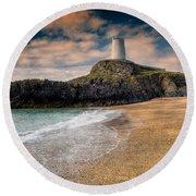 Lighthouse Beach Round Beach Towel