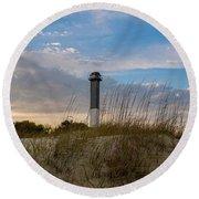 Lighthouse Dunes Round Beach Towel