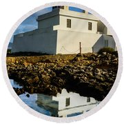 Lighthouse Round Beach Towel by Marco Oliveira
