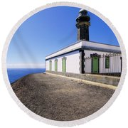 Lighthouse On Hierro Round Beach Towel