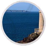 Lighthouse On The Coast, Phare Du Petit Round Beach Towel