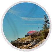 Lighthouse Park Round Beach Towel