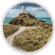 Lighthouse Path Round Beach Towel