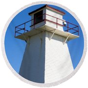 Lighthouse Pei Round Beach Towel