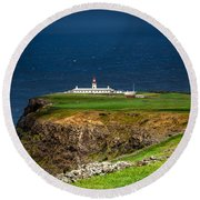 Lighthouse Ponta Do Albernaz Round Beach Towel