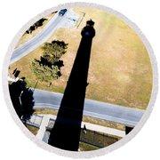 Lighthouse Shadow Round Beach Towel