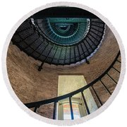 Lighthouse Stairs Round Beach Towel