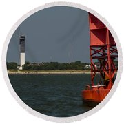 Lighthouse To Buoy Round Beach Towel