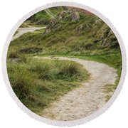 Lighthouse Trail Round Beach Towel by Adrian Evans