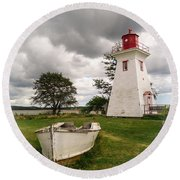 Lighthouse Victoria By The Sea Pei Round Beach Towel