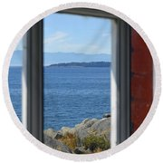 Lightkeepers View Round Beach Towel