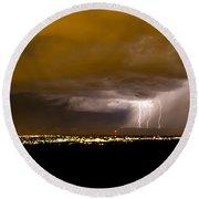 Lightning 17 Round Beach Towel