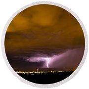 Lightning 18 Round Beach Towel
