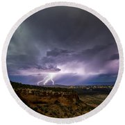 Lightning 32 Round Beach Towel