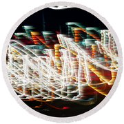 Lights In The Wind I Round Beach Towel