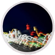 Lights In The Wind II Round Beach Towel