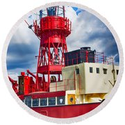 Lightship Lv15 Trinity Round Beach Towel